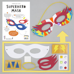 Make Your Own Superhero Mask Kit - decoration