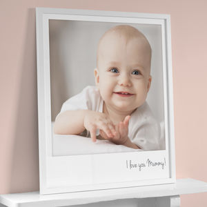 Personalised Giant Polaroid Style Photo Print - valentine's gifts for him
