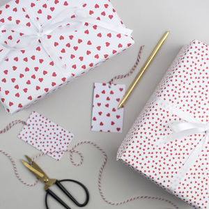 Red Heart Valentine's Wrapping Paper - cards & wrap