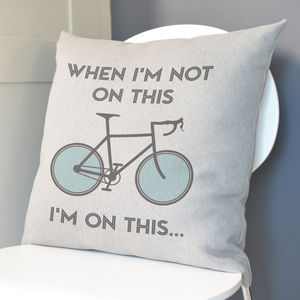 Cyclist's Cushion - decorative accessories