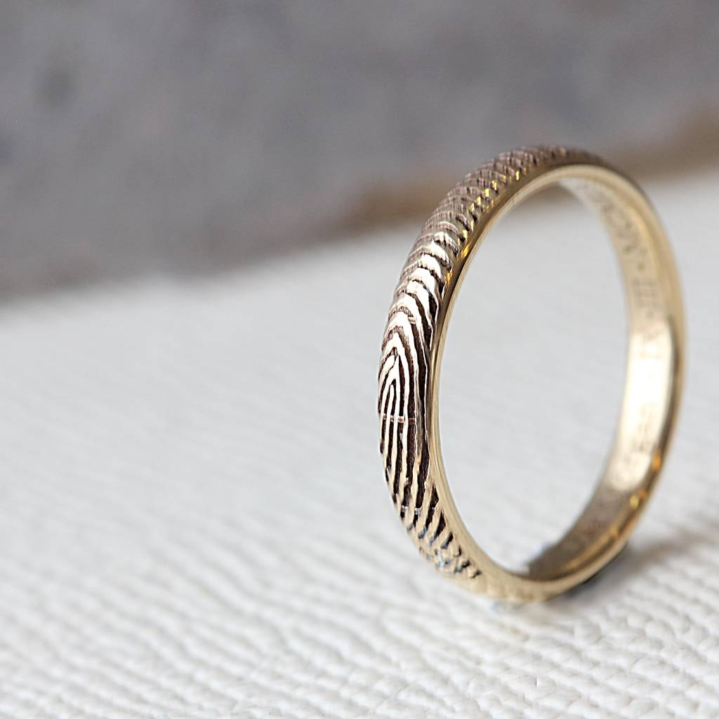 rings etsy fingerprint engagement ring il market