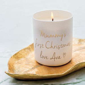 Personalised Message Candle - tree decorations