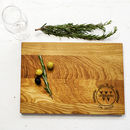 Laurel Wreath Personalised Oak Cutting Board