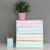 Recycled Pastel Paisley A4 Storage Box File - stationery