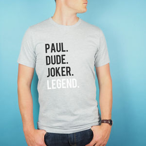 Personalised Legend T Shirt