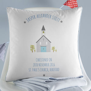 Personalised Christening Cushion - children's room