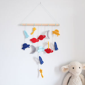 Felt Space Wall Hanger - wall hangings for children