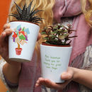 'Tree Of Knowledge' Teacher Plant Pot With Seeds