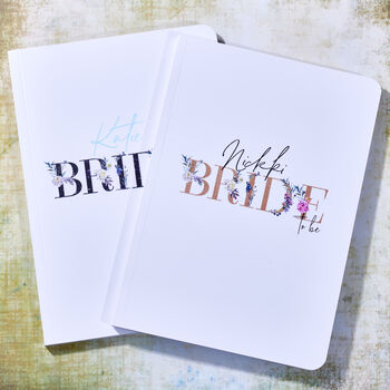 Bride To Be Personalised Planning Notebook