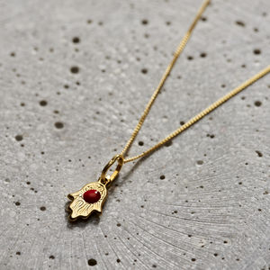 9ct Gold Mini Hamsa Hand Necklace - create your own luck