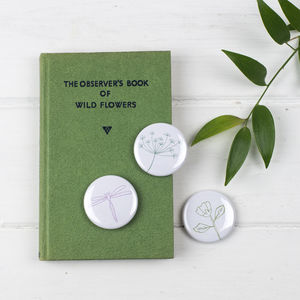 Botanical Fridge Magnet Set - summer sale