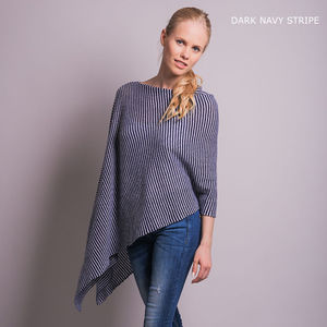 Cashmere Gauzy Knit Poncho - women's fashion