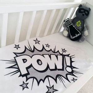 Pow! Monochrome Comic Book Blanket - soft furnishings & accessories
