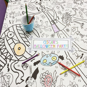 Colour In Tablecloth Halloween *Personalise It Option