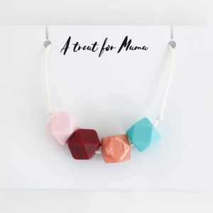 Bright Silicone Teething Necklace - summer sale
