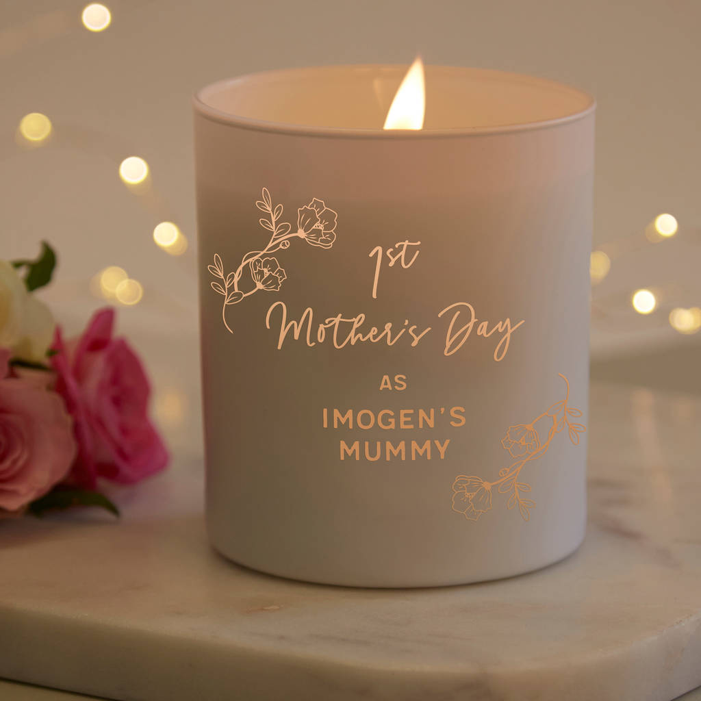 1st Mother S Day Gift Personalised Candle