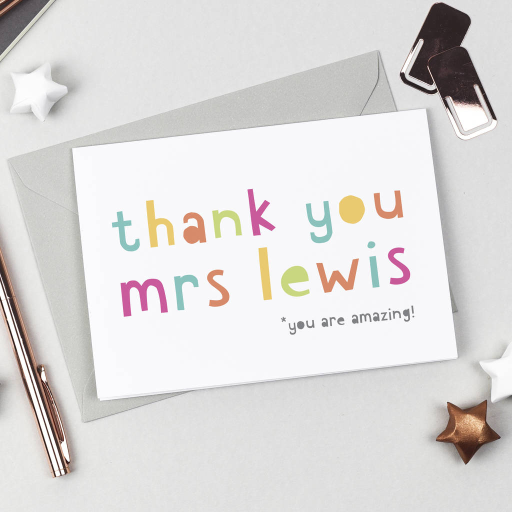 Amazing Teacher Thank You Card By Studio 9 Ltd Notonthehighstreet