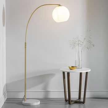 Marble And Gold Globe Floor Lamp