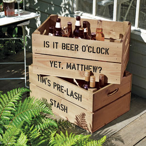 Personalised Beer Or Wine Storage Crate - thank you gifts