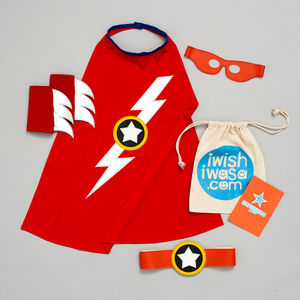 Superhero Lightening Flash Costume Set Luxe - whatsnew