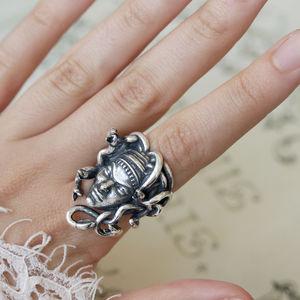 Medusa Sterling Silver Ring