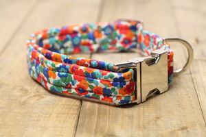 Shlee Liberty Fabric Dog Collar - dog collars