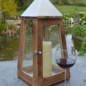 Wooden Candle Lantern - lighting
