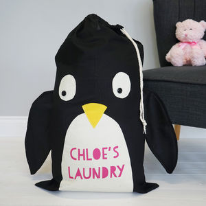 Personalised Penguin Or Polarbear Laundry Bag