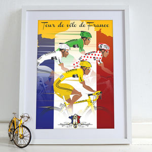 Tour De France Jerseys Art Print