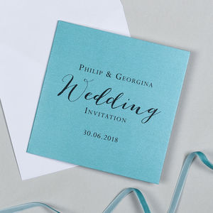 Tiffany Wedding Invitation - invitations