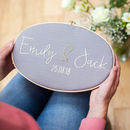Personalised Wedding Embroidery Hoop Sign
