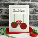 'Christmas Baubles' Personalised Christmas Card