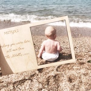 Wooden Postcard Baby Photography Prop