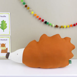 Hedgehog Shaped Pillow - children's room