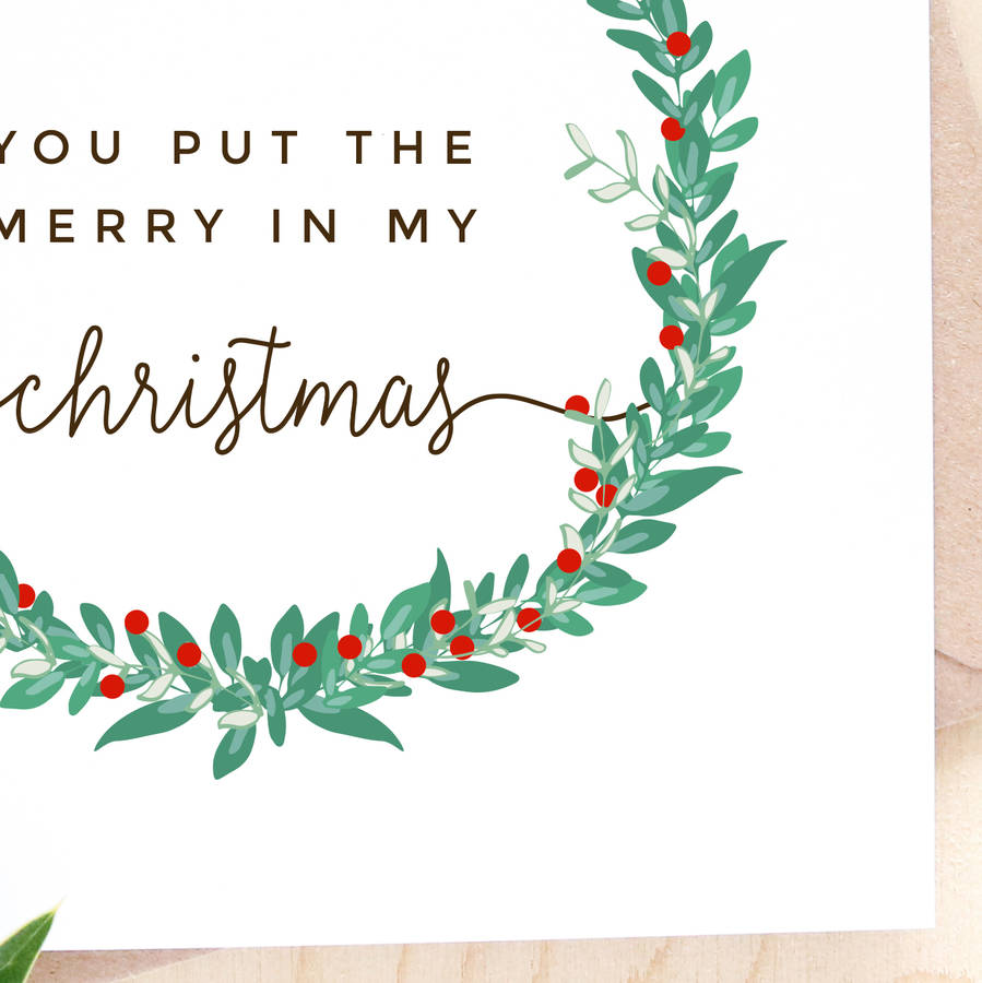 Romantic Christmas Card By Paper Craze Notonthehighstreet