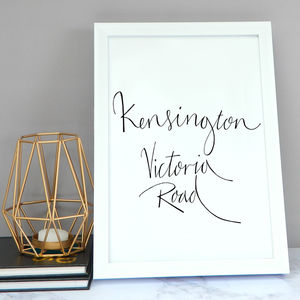Personalised Single Destination Illustration Print - travel inspired wedding gifts