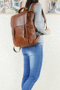 Genuine Leather Classic Backpack