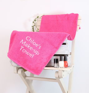 Personalised Make Up Towel