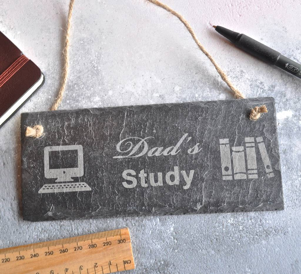 Personalised Study Slate Sign