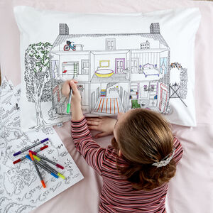 Doll's House Colour In Pillowcase Kit + 10 Pens