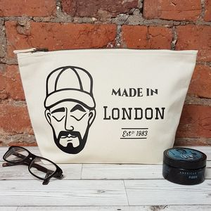 Personalised Dapper Dude Washbag - wash & toiletry bags