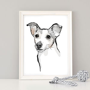 Custom Watercolour Dog Portrait - pet lover