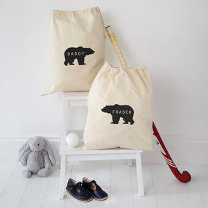 Personalised Daddy Bear Storage Bag