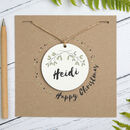 Personalised Happy Christmas Decoration Card