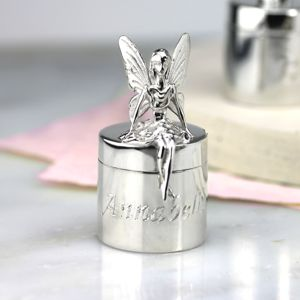 Silver Fairy Tooth Box - keepsakes