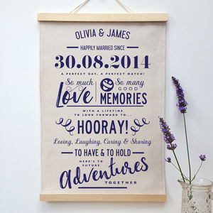 Personalised Cotton Anniversary Print - art & pictures