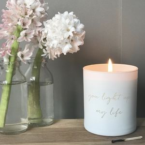 You Light Up My Life Scented Candle