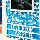 First Father's Day Keepsake Photo Card