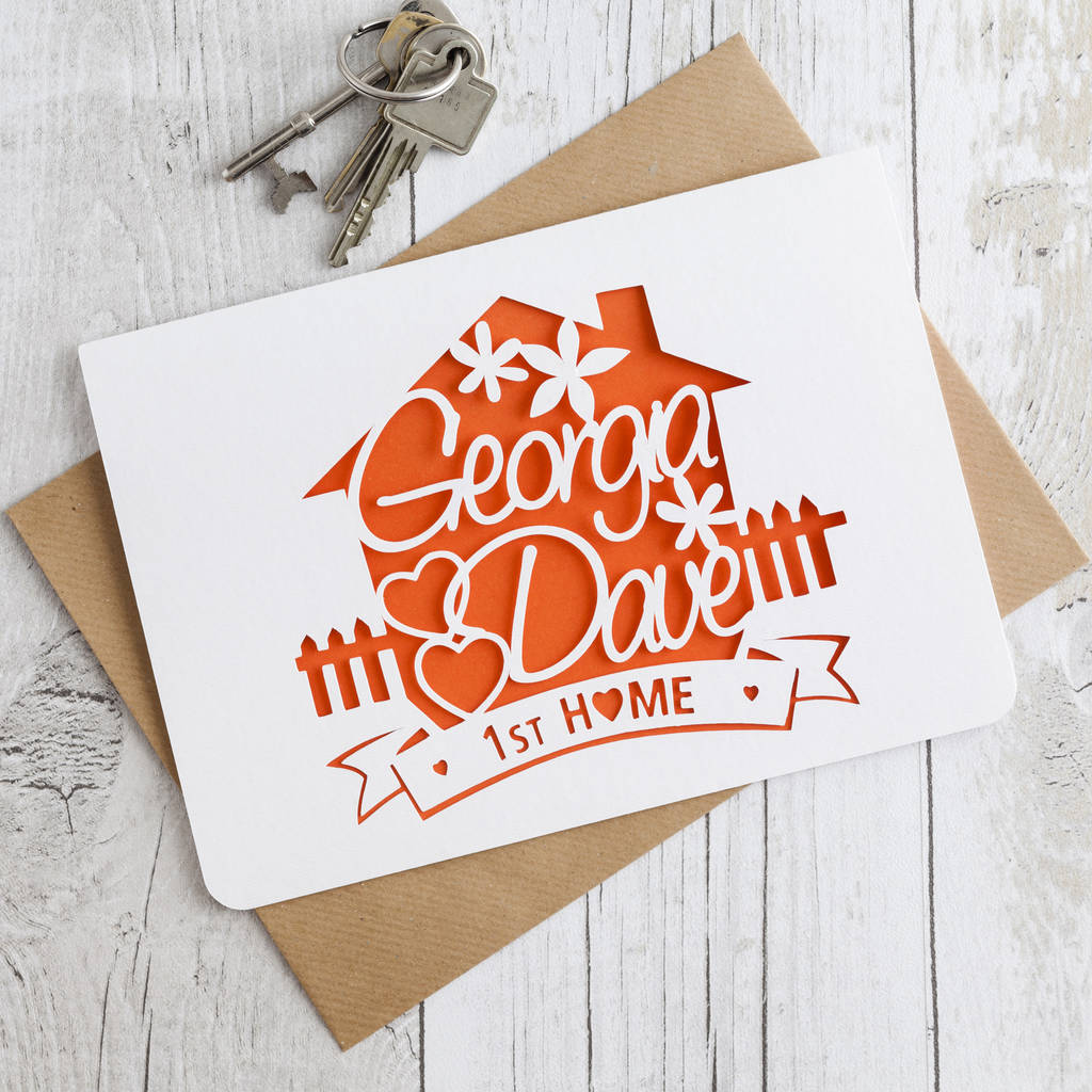 Card Making Ideas For Moving House Part - 44: New Home Paper Cut Card - New Home Cards
