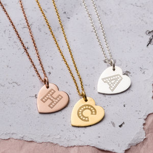 Personalised Letter In Lights Heart Necklace - personalised mother's day gifts